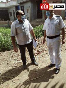 ضبط حالة بناء مخالف بقرية شبرا هارس
