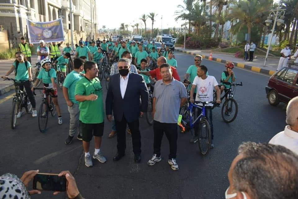 """انطلاق ماراثون الدراجات بالغردقة ..احتفالا بثورة 30 يونيو تحت شعار"""" دراجتك صحتك"""""""